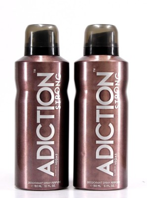 Adiction Vegas Pack of 2 Deodorant Spray - For Boys, Men(300 ml)