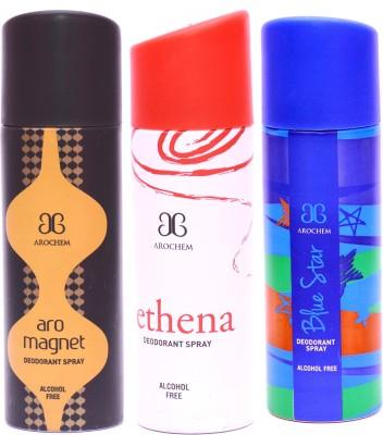 Arochem Combo Magnet Ethena Blue Star Deodorant Spray  -  For Men, Women