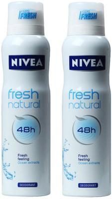 Nivea Fresh Natural Offer Deodorant Spray  -  For Women
