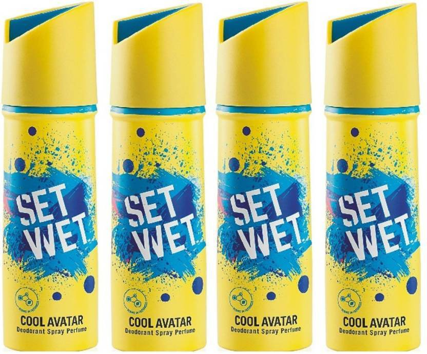 Set Wet blue Deodorant Spray  -  For Men(150 ml)