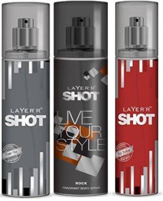 Layer,R Shot Power Play, Rock, Red Stalian Fragrance Body Spray Deodorant Spray  -  For Men