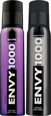 ENVY 1000 Electric & Magnetic Deo Combo (Pack of 2) Body Spray  -  For Men