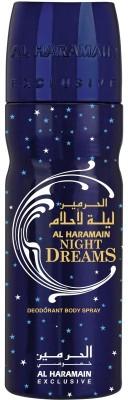 Al Haramain Night Dreams Body Spray  -  For Men