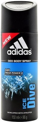 Adidas Ice Dive Deodorant Spray - For Men, Boys