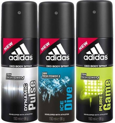 Adidas Dynamic Pulse Ice Dive Pure Game Body Spray  -  For Men