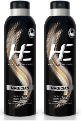 HE DEO Perfumed (MAGICIAN) 150 ml * 2 Body Spray  -  For Men