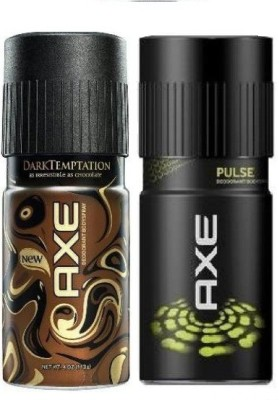 AXE Dark Temptation And Pulse Deodorant Combo (Pack Of 2) Body Spray - For Men(150 ml)