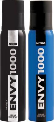 ENVY 1000 Nitro & Noir Deo Combo (Pack of 2) Body Spray  -  For Men