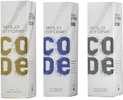Wild Stone Gold- Platinum -Titanium Body Spray  -  For Boys, Men