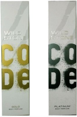 Wild Stone Gold And Platinum Body Perfume Combo ( Pack Of Two ) Body Spray  -  For Boys, Men