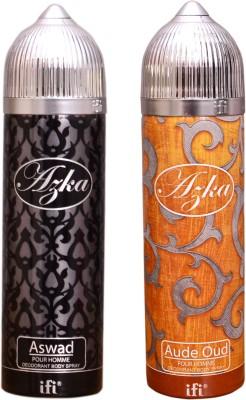 AZKA 1 ASWAD::1 AUDE OUD Deodorant Spray  -  For Men, Women