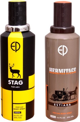 ESTIARA 1 STAG::1 HERMITAGE Deodorant Spray  -  For Men