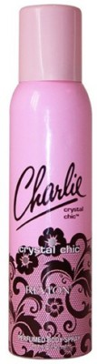 Revlon Charlie Crystal Chic Deodorant Spray  -  For Women, Men