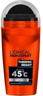 L,Oreal Paris Men Expert Thermic Resist Effective Even At 45 C Clean Clear Fragrence Deodorant Roll-on  -  For Men(50 ml)