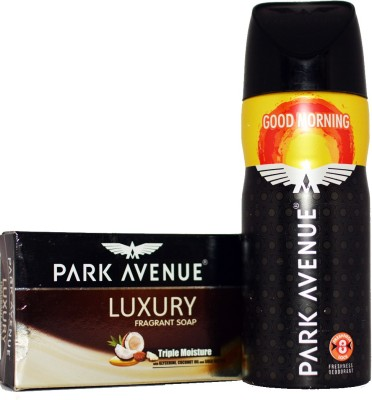 Park Avenue GOOD MORNING DEO WITH LUXURY SOAP Deodorant Spray  -  For Boys, Men