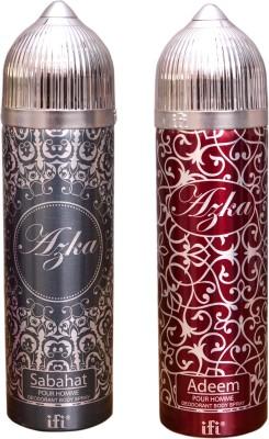 AZKA 1 SABAHAT::1 ADEEM Deodorant Spray  -  For Men, Women