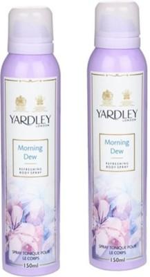Yardley London Morning Dew Deodorant Spray (Pack of 2) Body Mist  -  For Women(300 ml)