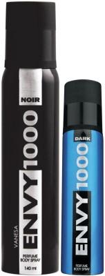 Envy1000 Noir Deo 130 Ml & Dark Spray Nano 40 Ml Deodorant Spray - For Men(170 ml)