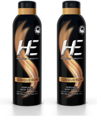 HE DEO Perfumed (CONQUEROR) 150 ml * 2 Body Spray  -  For Men