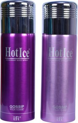 Hot Ice Pack Of 2 Deodorant Spray  -  For Men, Women