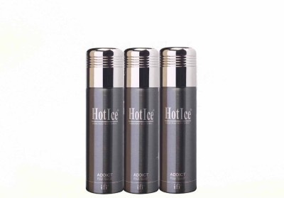 Hot Ice Addict Value Pack Deodorant Spray  -  For Women, Girls