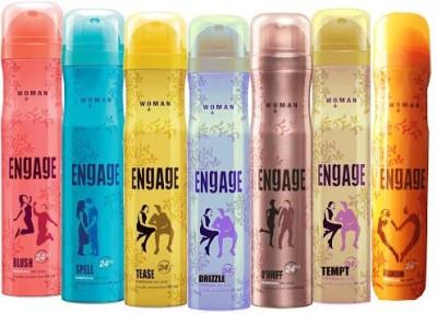 Engage Combo Set Of 7 Deodorant Spray  -  For Women