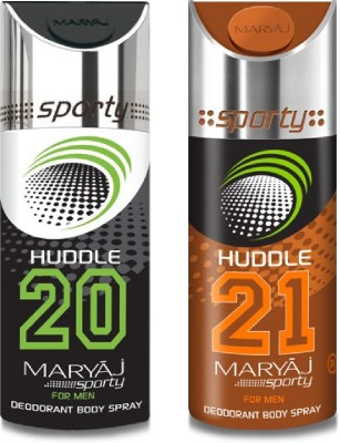 Maryaj Pack of 2 (Huddle 20+21) Body Spray  -  For Men