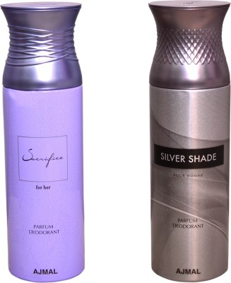 AJMAL 1 SACRIFICE FOR HER::1 SILVER SHADE Deodorant Spray  -  For Women