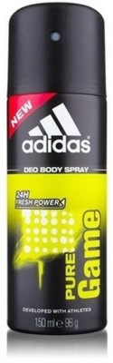Adidas Pure Game Body Spray - For Men