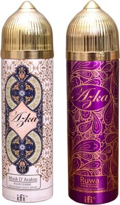 AZKA 1 MUSK D, ARABIE::1 RUWA Deodorant Spray  -  For Men, Women