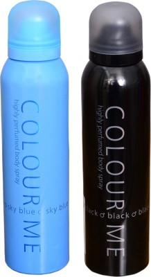 COLOR ME 1 SKY BLUE::1 BLACK DEO Deodorant Spray  -  For Men