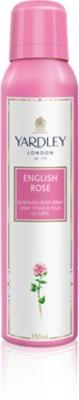 Yardley London English Rose Body Spray  -  For Girls, Women