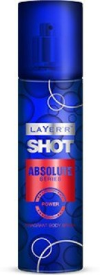 Layerr Shot - Absolute Series - Power Deodorant Spray - For Men, Boys(135 ml)