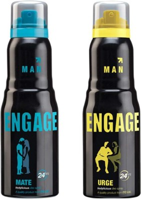 Engage Combo of Mate & Urge Body Spray  -  For Men