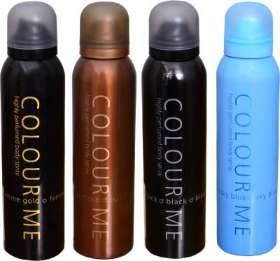 COLOR ME 1 FEMME GOLD::1 OUDH::1 BLACK::1 SKY BLUE DEO Deodorant Spray  -  For Men