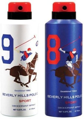 Beverly Hills Polo Club Combo Deodorants No 8 & 9 Body Spray  -  For Men(350 ml) at flipkart