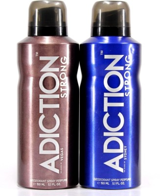 Adiction Vegas & Sydney Deodorant Spray - For Boys, Men(300 ml)