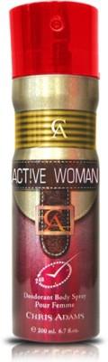 Chris Adams Active Women Body Spray  -  For Girls, Women