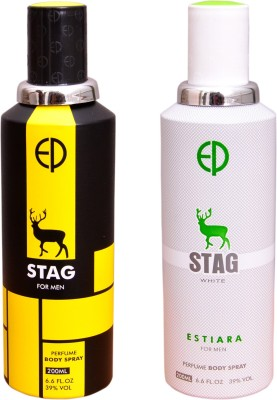 ESTIARA 1 STAG::1 STAG WHITE Deodorant Spray  -  For Men