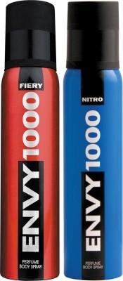 ENVY 1000 Fiery & Nitro Deo Combo (Pack of 2) Body Spray  -  For Men