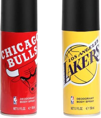 NBA Team Battle Chicago Bulls Vs Los Angles Lakers Deodorant Spray  -  For Boys, Men