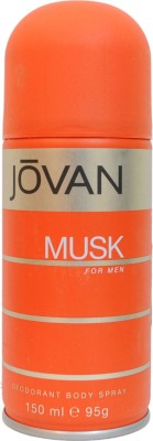 Jovan Musk Deodorant Spray - For Men(150 ml)
