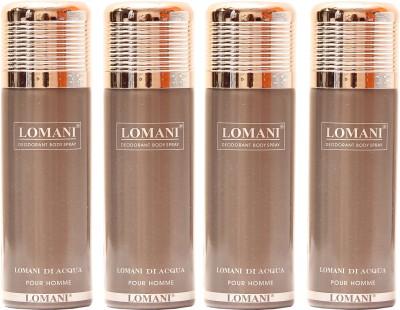 Lomani Di Acqua Deodorant Spray  -  For Men, Women
