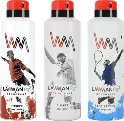 LAWMAN PG3 Striker, Flicker , Challenger Deodorant Spray  -  For Men