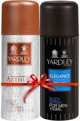 Yardley London Elegance & Arthur Body Spray  -  For Men