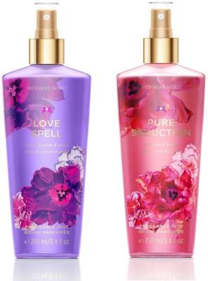 Victorias Secret Pure Seduction or Love Spell Fantasies Combo Body Mist - For Women, Girls