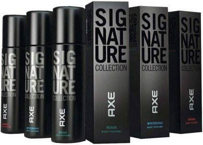 Axe Signature Mysterious Rogue Intense 3 PACK Deodorant Spray  -  For Boys, Men