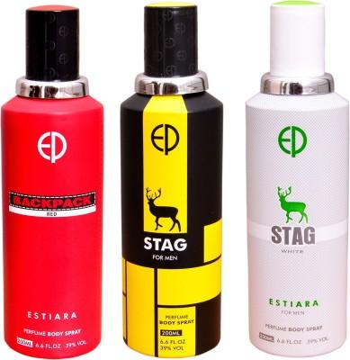 ESTIARA 1 BACKPACK RED::1 STAG::1 STAG WHITE Deodorant Spray  -  For Men, Women