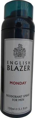 English Blazer Monday Deodorant Spray  -  For Men