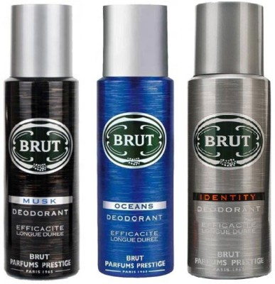 Brut Musk Ocean & Identity Body Spray  -  For Men